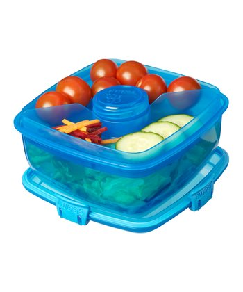 Turquoise Salad-to-Go Container - Set of Two