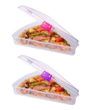 Pink & Purple Pizza Slice to Go Container Set