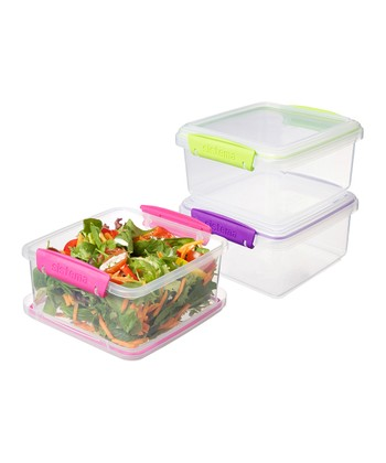 Pink, Purple & Green Small To-Go Container Set