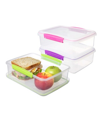 Pink, Purple & Green Large To-Go Container Set