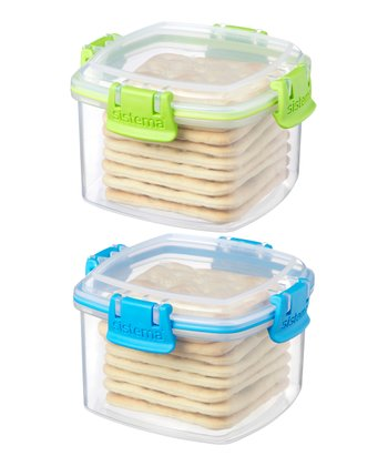 Green & Blue Small Cracker Container Set