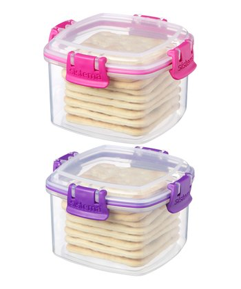 Pink & Purple Small Cracker Container Set