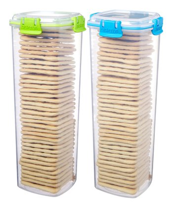 Green & Blue Large Cracker Container Set