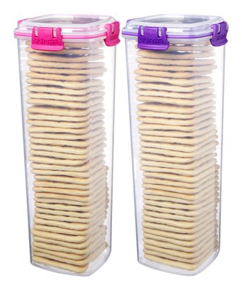 Pink & Purple Large Cracker Container Set