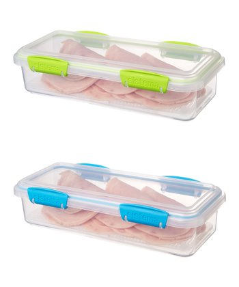 Green & Blue Deli Container Set