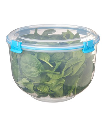Blue Salad Accents Container