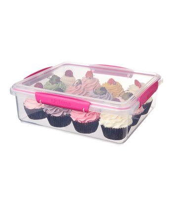 Pink KLIP IT Bakery Accents Container