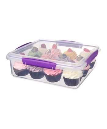Purple KLIP IT Bakery Accents Container