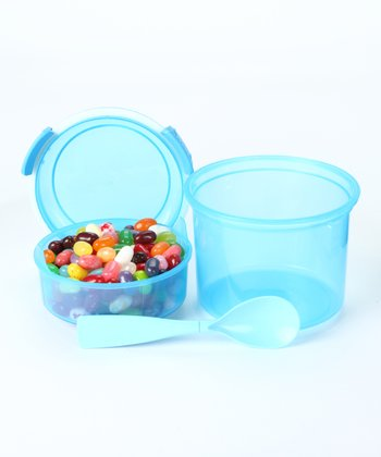 Blue 18-Oz. Dinkee Snack Container