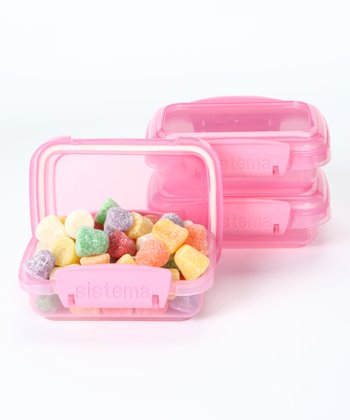 Pink 200-mL Container - Set of Three
