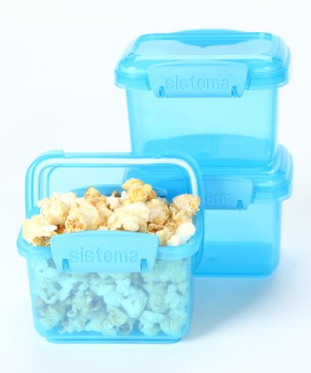 Blue 400-mL Container - Set of Three