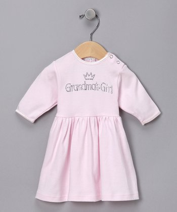Pink 'Grandma's Girl' Rhinestone Dress