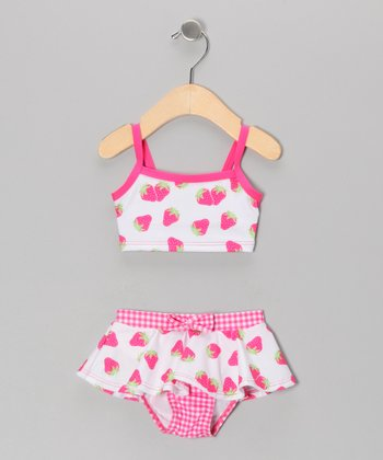 Pink Strawberry Bikini - Infant & Girls