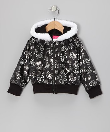 Black Butterfly Hooded Jacket - Infant, Toddler & Girls