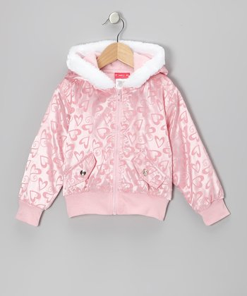 Pink Heart Hooded Jacket - Infant, Toddler & Girls