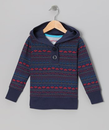 Blue Heart Fair Isle Ice Cap Pullover - Infant