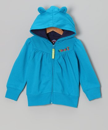 Blue Jewel Snow Cute Zip-Up Hoodie - Infant, Toddler & Girls