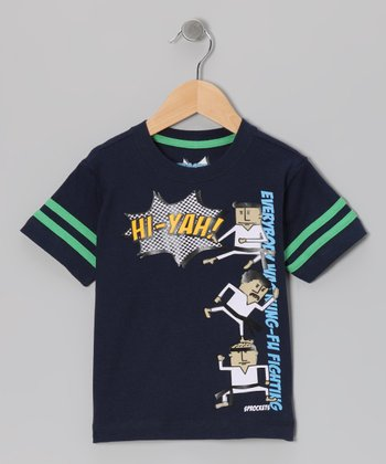 Peacoat 'Kung Fu Fighting' Tee - Infant, Toddler & Boys