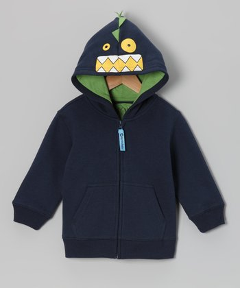 Blue Iris Fiend Zip-Up Hoodie - Infant, Toddler & Boys