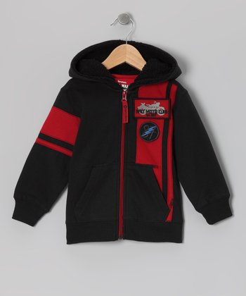 Anthracite Scrambler Zip-Up Hoodie - Toddler & Boys