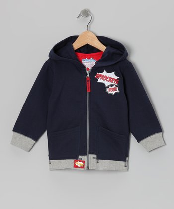 Peacoat Hero Zip-Up Hoodie - Infant, Toddler & Boys