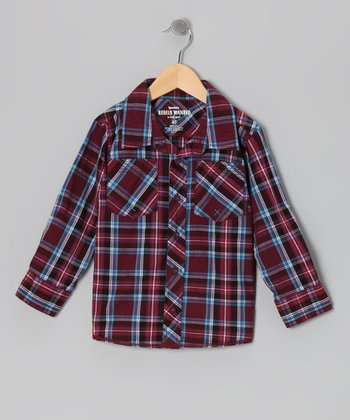 Zinfandel Plaid Speed Demon Button-Up - Infant, Toddler & Boys