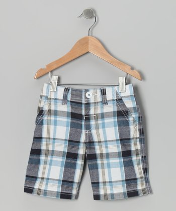 Peacoat Plaid Super Shorts - Infant, Toddler & Boys