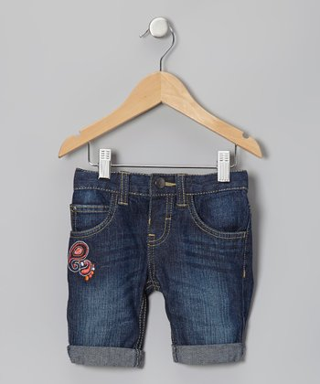 Vintage Blast Paradise Denim Shorts - Infant, Toddler & Girls