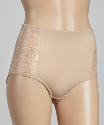 Nude Lace Right Triangle High-Waisted Shaper Briefs