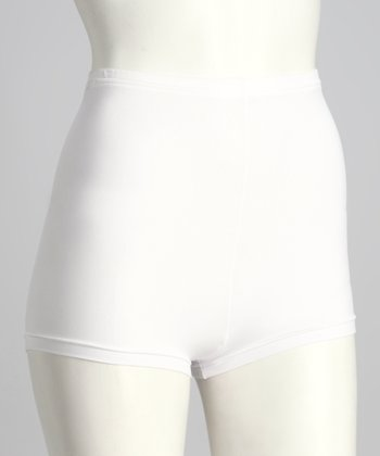 White Smooth Shaper Boyshorts
