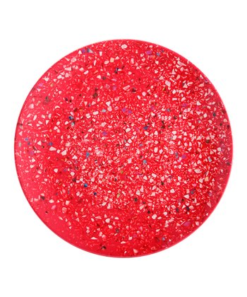 Red Confetti Salad Plate - Set of Six