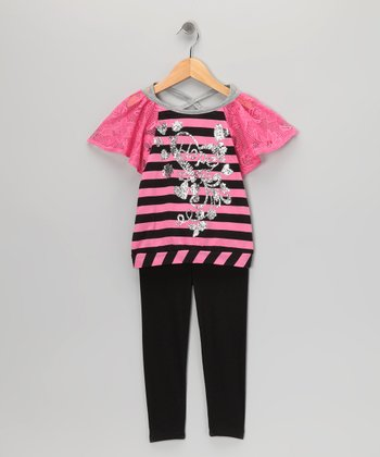 Diamond Berry 'Hope' Tunic & Black Leggings - Toddler & Girls