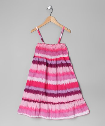Pink Stripe Convertible Dress - Toddler & Girls
