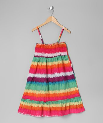 Rainbow Stripe Convertible Dress - Toddler & Girls
