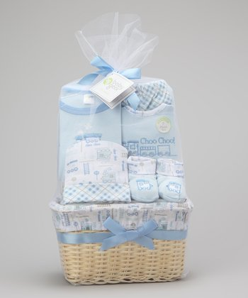 Blue Train 7-Piece Basket Set