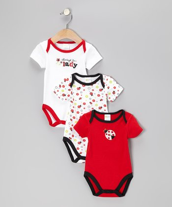 Baby Gear Red Ladybug Bodysuit Set