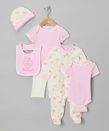 Pink 'Little Sweetheart' Six-Piece Layette Set