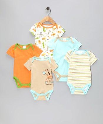 Baby Gear Tan 'Best Friend' Watch-Me-Grow Bodysuit Set