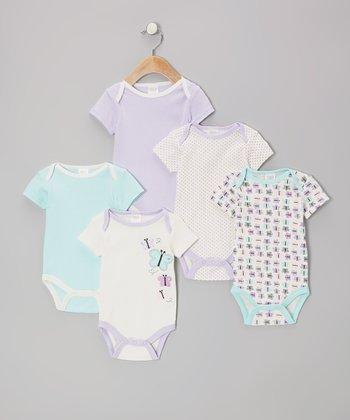 Baby Gear Purple Butterfly Watch-Me-Grow Bodysuit Set