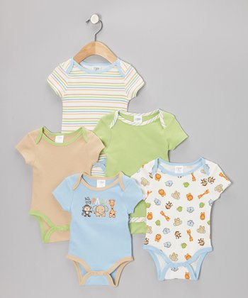 Blue 'All My Pals' Watch-Me-Grow Bodysuit Set