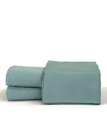 Aqua Cotton Sateen Sheet Set