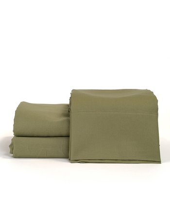 Sage Cotton Sateen Sheet Set
