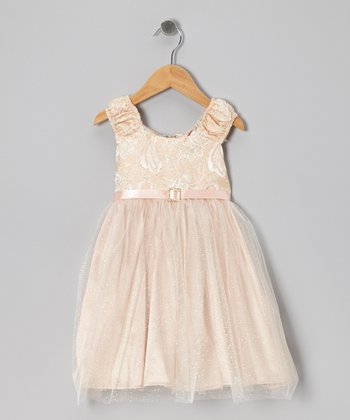 Peach Empressa Dress - Infant