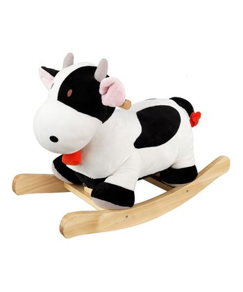 Plush Cow Rocker with Personalization Option