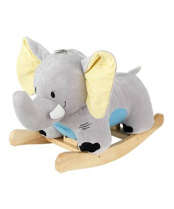 Plush Elephant Rocker with Personalization Option