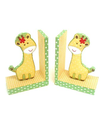 Yellow Giraffe Bookend - Set of Two