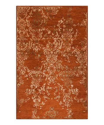 Rust Red & Gold Banshee Wool Rug