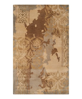 Fatigue Green & Bronze Banshee Wool Rug