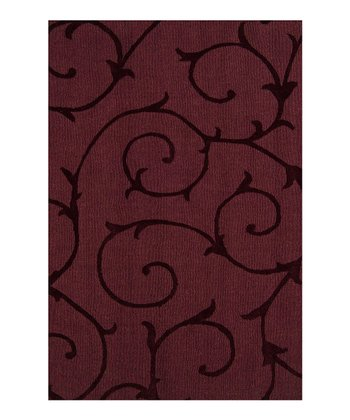 Plum Wine Bristol Wool Rug