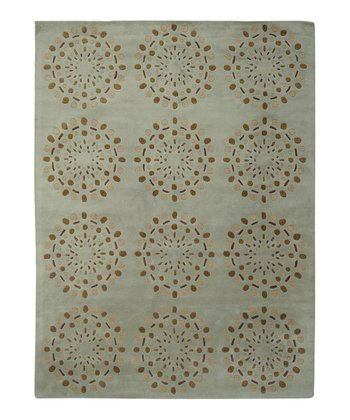 Spa & Brown Bombay Wool Rug